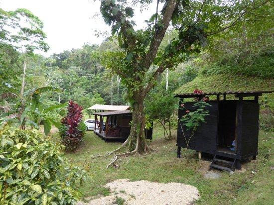 Portobelo, ปานามา: notre cabana et l'espace de sanitaire