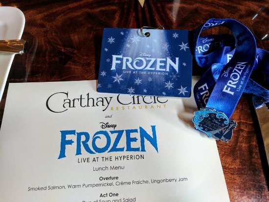 Image result for frozen carthay circle dining package
