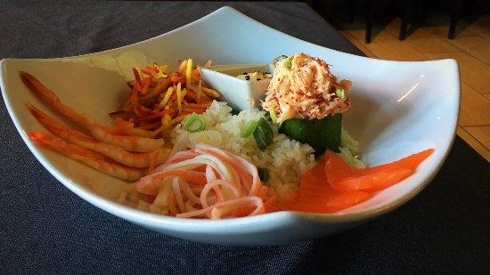 Saint Hyacinthe, Kanada: salade de fruits de mers et sauce wafu