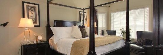 The Hopeless Romantic B and B: Merlot master bedroom