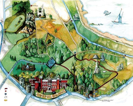 Killiney, Irland: Fitzpatrick Castle Hotel Map