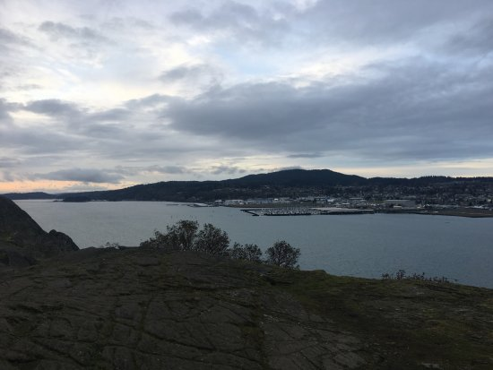 Anacortes from Cap Sante Park in the early morning.