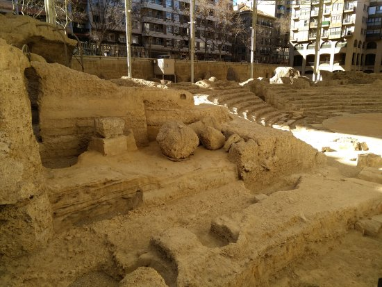 Museo del Teatro Romano de Caesaraugusta: Restos arqueológicos.