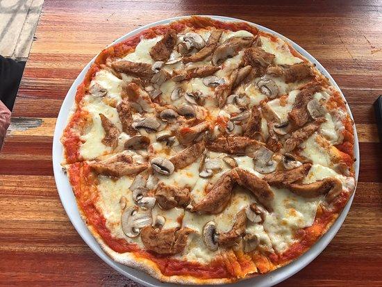 Chicken Mushroom Pizza Picture Of Hells Kitchen Johannesburg