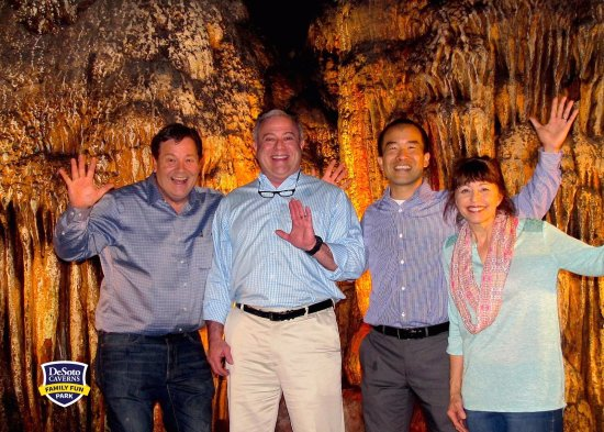 Childersburg, AL: Official photo from our time at DeSoto Caverns. Great tour and beautiful light show.