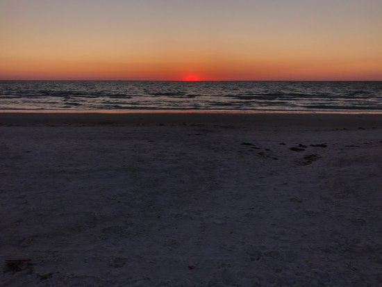 Sunset over Pass-a-grille beach