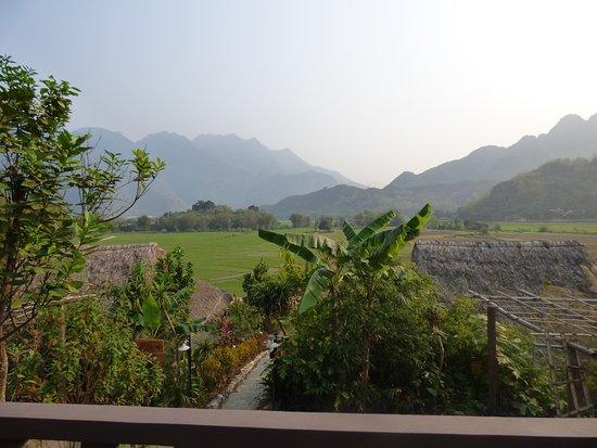 Mai Chau, Vietnam: vue sur les rizières