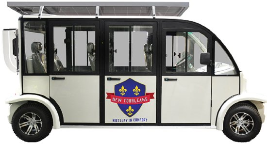 New Orleans, LA: Our air-conditioned electric vehicle seats four guests. Now you can ride to tour the French Quar