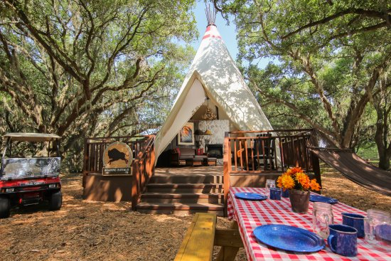 Westgate River Ranch Resort & Rodeo : A truly extraordinary Glamping experience awaits at Westgate River Ranch with our new Luxe Teepe
