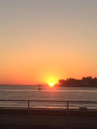 Silver Palms Inn: Solnedgang på Key West