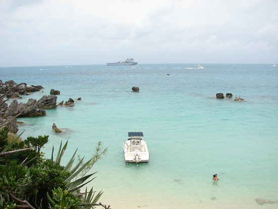 St. George's Parish, Bermuda: Achilles' Bay on a quiet day! (Shot from the Beach House)