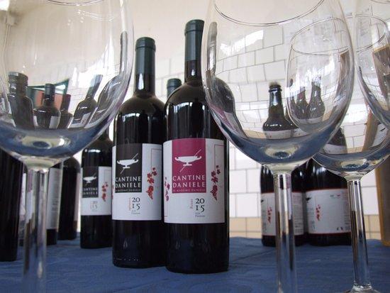 Capaccio-Paestum, Italia: Vino MASSIMO (Aglianico in purezza), vino EFESTO (Barbera) e FERRO ROSSO (Aglianico, Barbera, Sa
