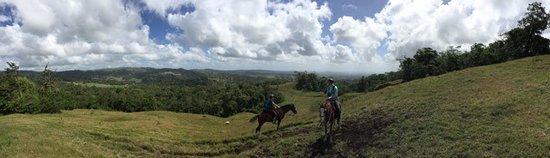 Cabalgata Don Tobias: Vista on side of Arenal volcano.