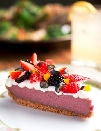 Rhubarb Pie with Summer Berries at Earth