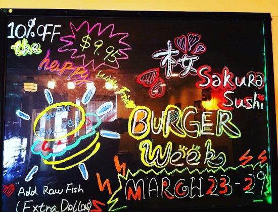 """Bedford, Канада: Do you ever try """" Sushi Burger """" before? Come to enjoy us during the Burger Week and receive 10%"""