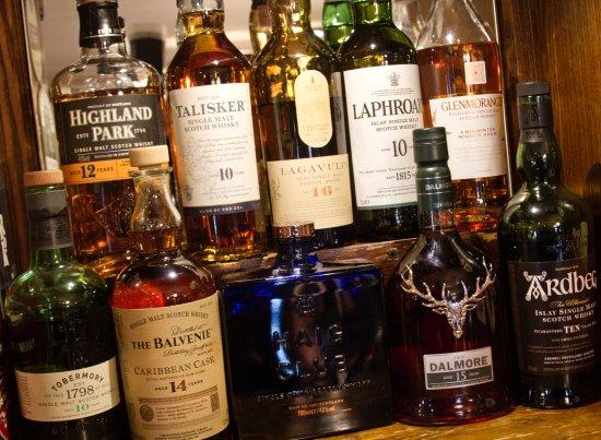 The Fleece Inn: Malt Whisky selection