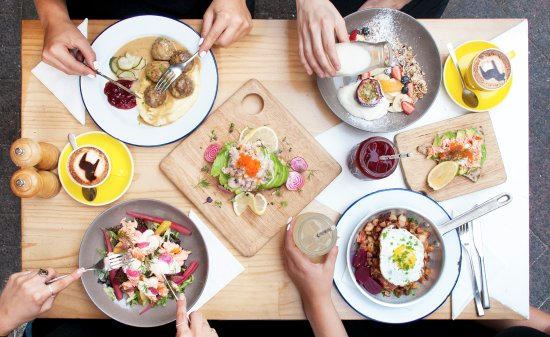 Fika Swedish Kitchen: A selection of our favourites – Meatballs, Fika's Musli, Toast Skagen, Stockholm Salad, Pytt i P