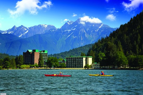 The Copper Room: Kayaks on Harrison Lake near Harrison Hot Springs Resort