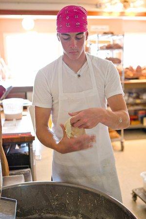 Bow, WA: mixing dough