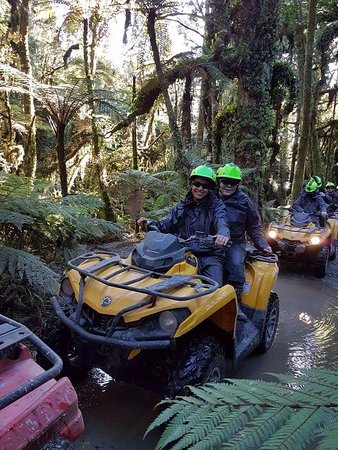 Franz Josef, Yeni Zelanda: quick stop in the rain forest