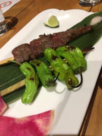 Chamblee, GA: Wagyu Ribeye and Shishito Pepper Robatayaki