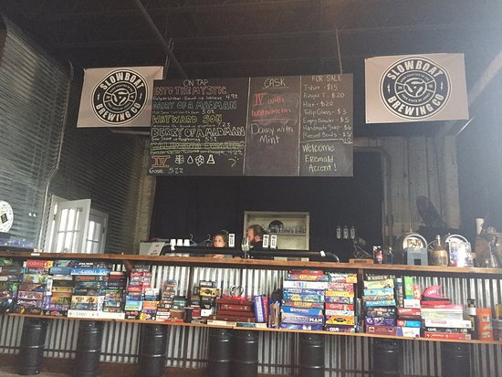 Laurel, MS: The games and brews at Slowboat