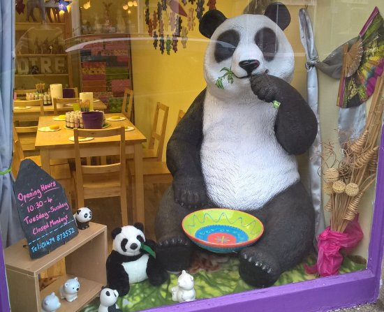 Grantown-on-Spey, UK: Come and take your photo with our life sized panda. He's very patient and photogenic!
