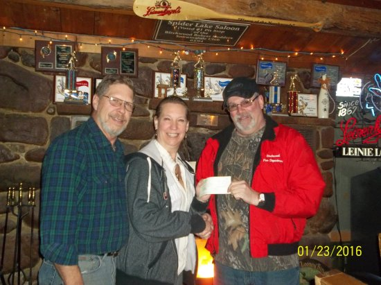 Birchwood, WI: Fun fundraising for the local fire department.