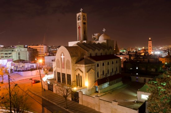 Caravan Hotel: Coptic Church from the Restaurant balcony