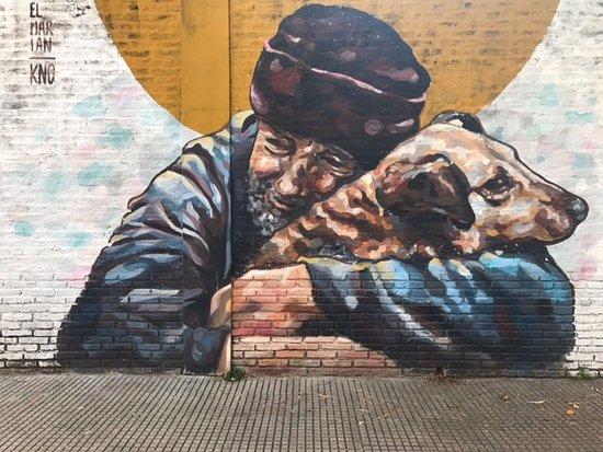 BA Street Art Tours: beautiful work near a children's school