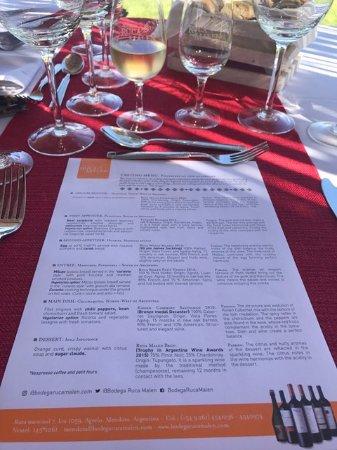 Coronel Moldes, Argentyna: sampling menu