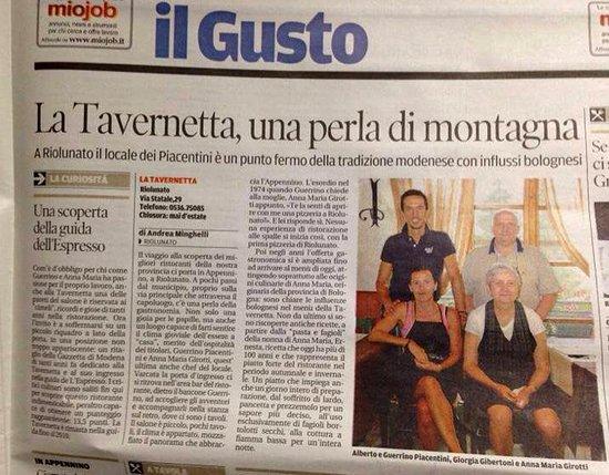 Riolunato, Italy: i gestori da oltre 40 anni