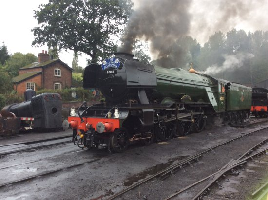 Kidderminster, UK: Flying scotsman at Bridgnorth. September 26th 2016