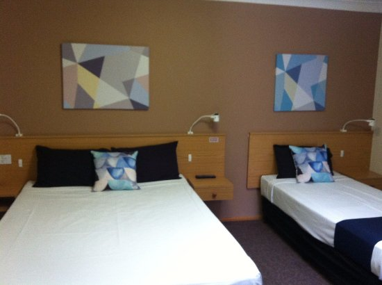 Maryborough, Australia: Executive Twin Room. All Twin Rooms have One Queen Bed and One Single Bed