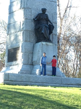 Vicksburg, MS: The first big monument from the arch, Minnesota's. It is a half mile walk,