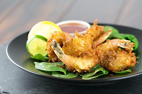 Pateros, واشنطن: coconut shrimp.  Delicious appetizer
