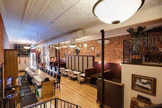 Winona, MN : View of Main Level of Oaks Wine Bar