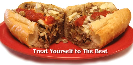 Pottstown, PA: Mushroom Cheesesteak with Sauce & Onions :)