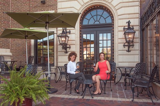 Chaz on the Plaza: The Chaz patio is an ideal setting for drinks or shared appetizers