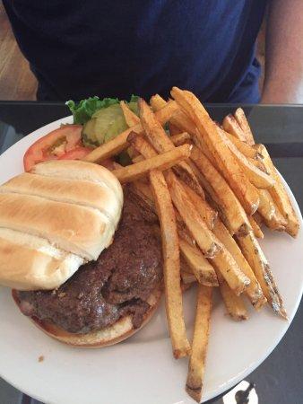 Ely, NV: Stuffed mushroom and Swiss cheese burger