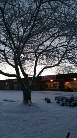 Clarkesville, GA: Yes were are open 365 days a year..even with a beautiful snow