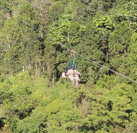 Toro Verde Nature Adventure Park: Flying away