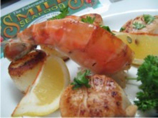 "Grilled ""JUMBO"" Prawns in Prince Rupert Restaurant"