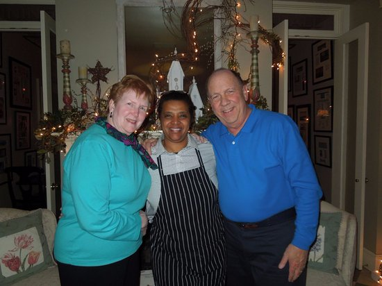 Hope and Glory Inn: My wife and I with the Executive Chef Meseret