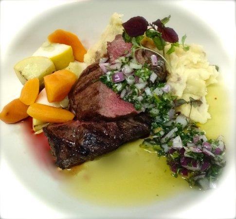 Brooksville, ME: Grilled Black Angus New York Strip Steak