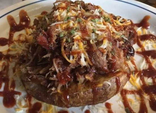 Scottsburg, VA: BBQ Pork Stuffed Potato Wednesday Special every week