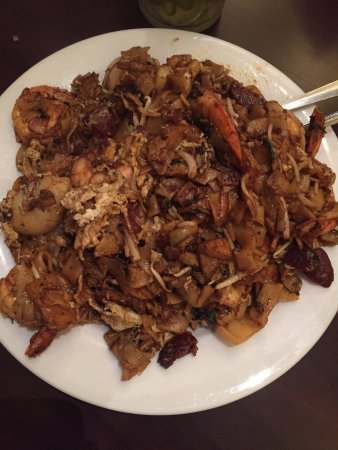 "Port Moody, Canada: Char Kway Teow stuffed full with shrimp, fish cakes and bean sprouts (""tow gay"")."