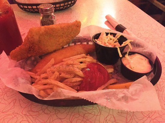 Medina, OH: fried fish and chips and sides