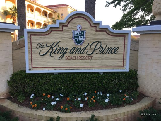 The King and Prince Beach and Golf Resort: The main entrance sign.