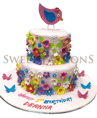 Sweet Passions 2 Tier Bird Cake